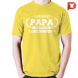 The Best Papa was born in December V.BC Cotton Tee