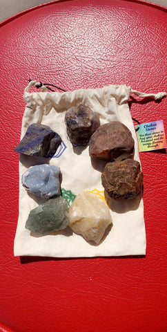 7 Chakra Rough Natural Stone Kit