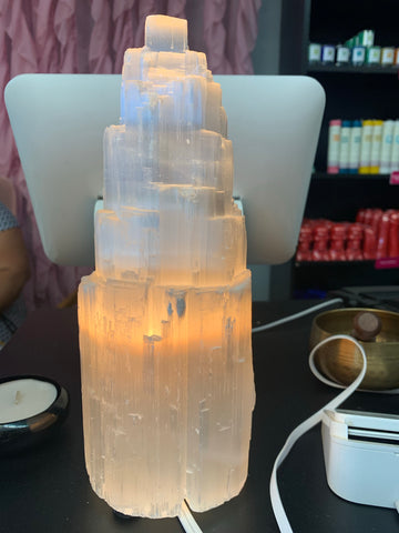 "10""Selenite Lamp"