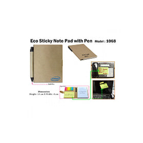 Eco Sticky Pad With Ball Pen 1068
