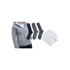 Winter Hooded Sweat Jacket For Women With 3 Cotton Socks With Handkerchiefs