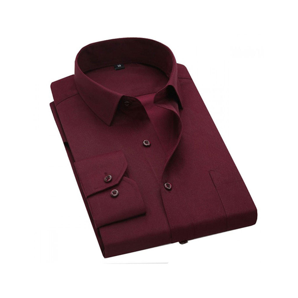 Formal Pc Cotton Maroon Shirts M.No 2