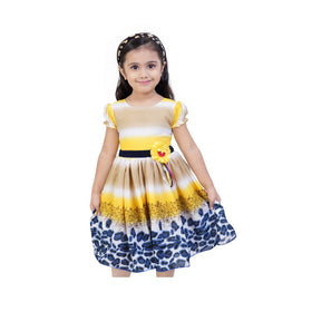 Multi Color Casual Dress For Girls