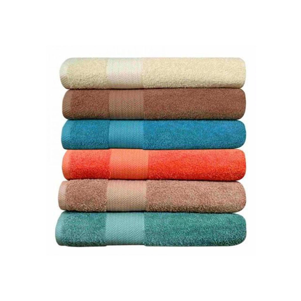 Set Of 6 Large Size Cotton Towels