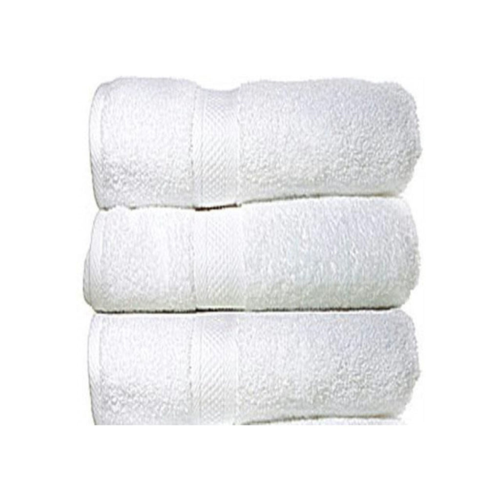Set Of 3 Large Size White Cotton Towels 1