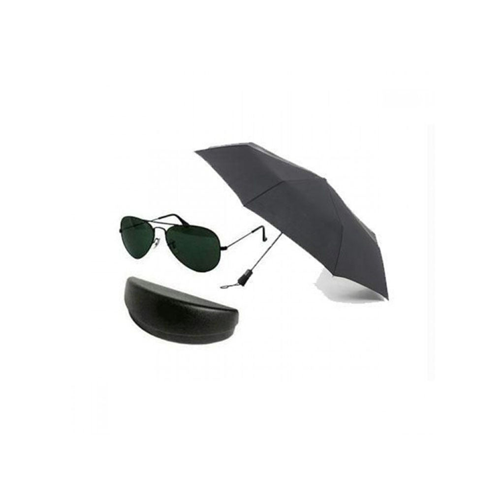 Sunglass For Men With 2 Fold Branded Umbrella