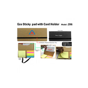 Eco Sticky Pad With Card Holder