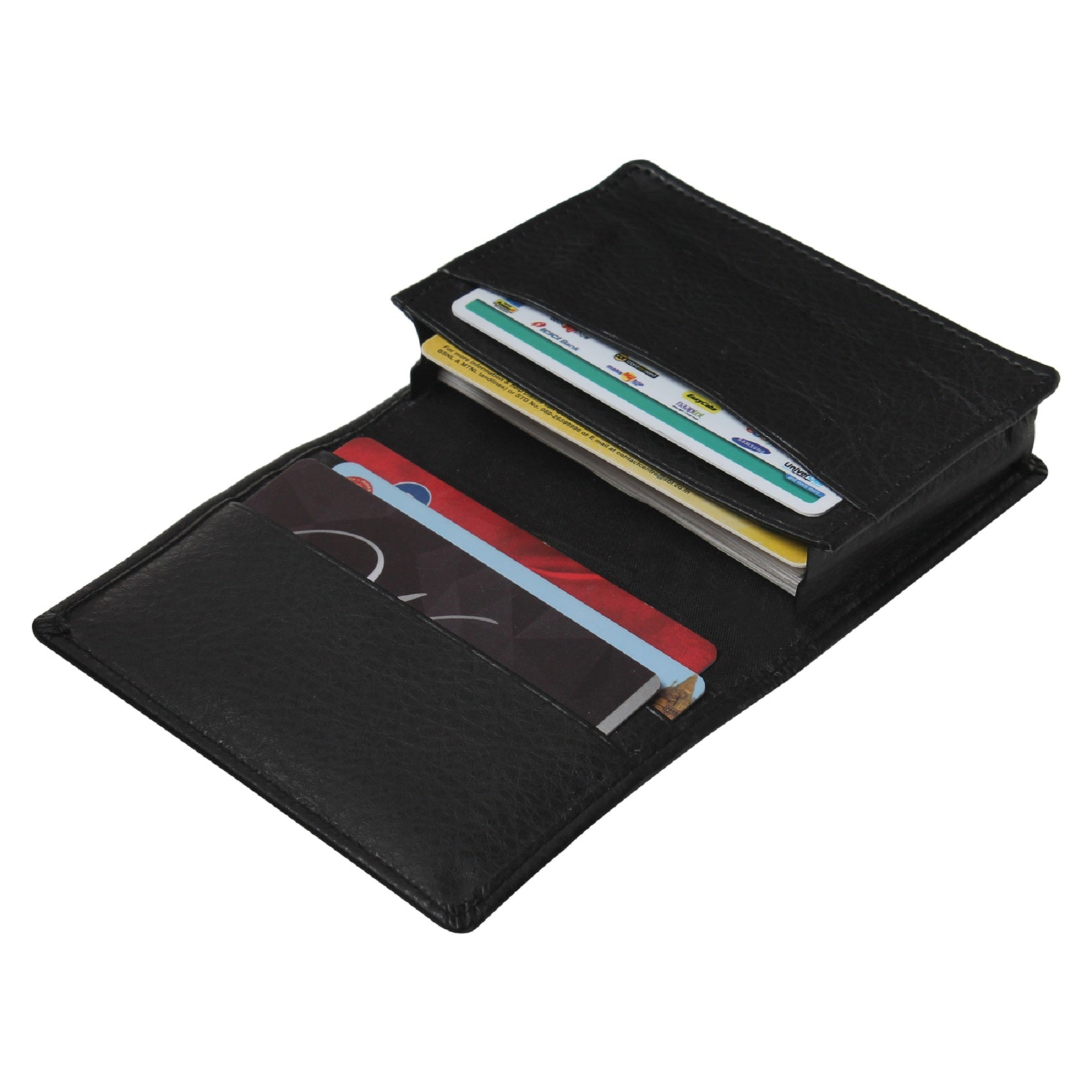 Genuine Leather Black Credit Card Holder||Money Purse||Pocket Wallet for Men and Women