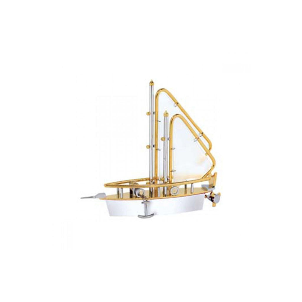 Fancy Golden Ship Desk Top Holder Model-1011