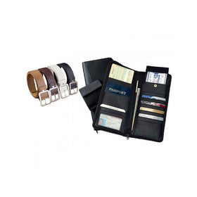 Passport Cum Credit Card Holder With Leatherite Belt For Mens - Pack Of 4