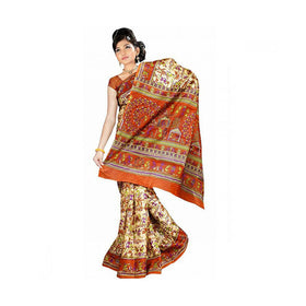 Bhagalpuri Art Silk Printed Saree With Blouse Piece -M.No 1