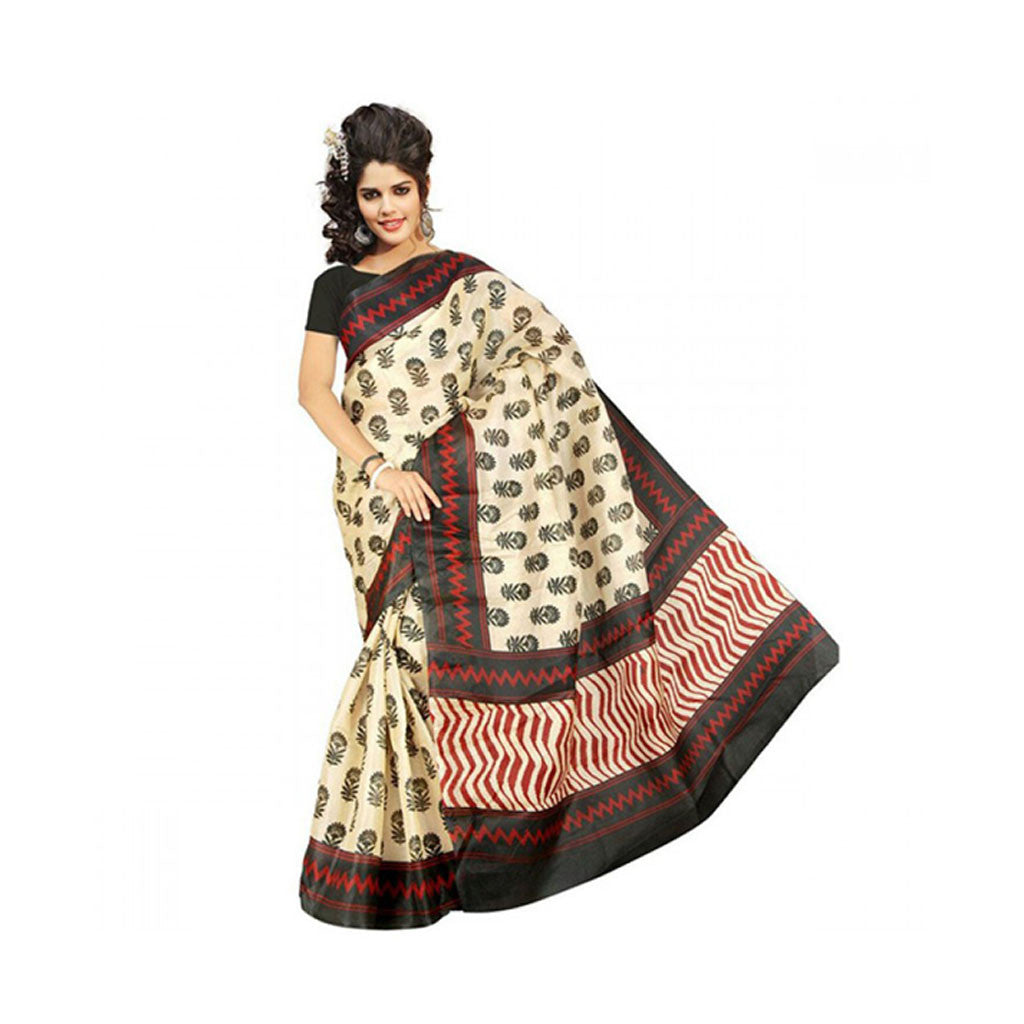 Bhagalpuri Art Silk Printed Saree With Blouse Piece -M.No 11