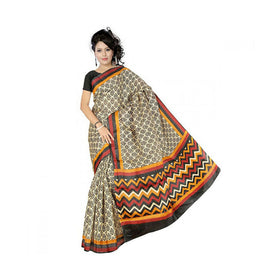 Bhagalpuri Art Silk Printed Saree With Blouse Piece -M.No 13