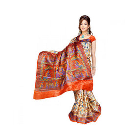 Bhagalpuri Art Silk Printed Saree With Blouse Piece -M.No 14