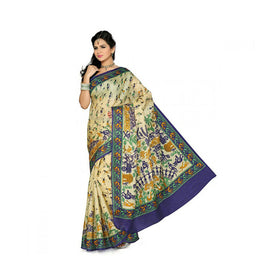 Bhagalpuri Art Silk Printed Saree With Blouse Piece -M.No 16
