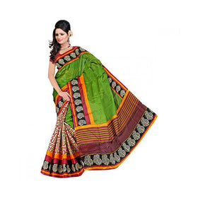 Bhagalpuri Art Silk Printed Saree With Blouse Piece -M.No 17