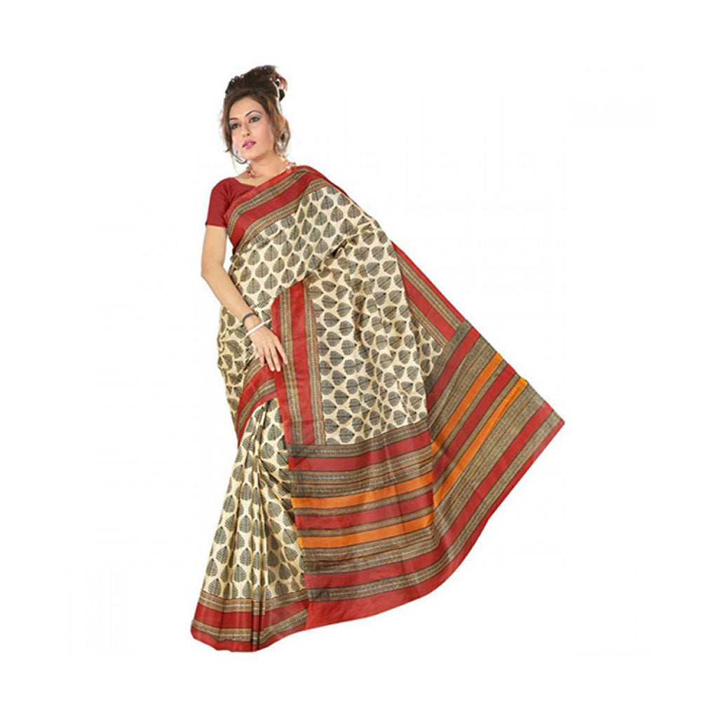 Bhagalpuri Art Silk Printed Saree With Blouse Piece -M.No 19
