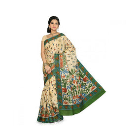 Bhagalpuri Art Silk Printed Saree With Blouse Piece -M.No 18