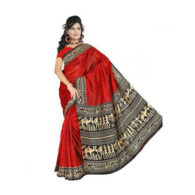 Bhagalpuri Art Silk Printed Saree With Blouse Piece -M.No 23