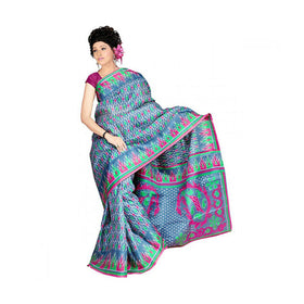 Bhagalpuri Art Silk Printed Saree With Blouse Piece -M.No 22