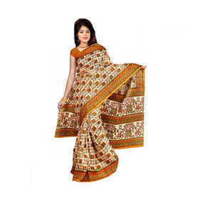 Bhagalpuri Art Silk Printed Saree With Blouse Piece -M.No 24