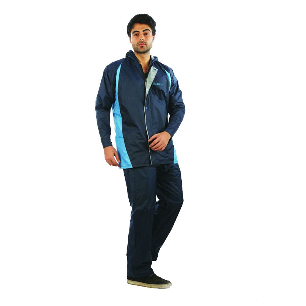 Mens Reversible Aqua Rain Suit