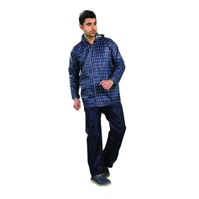Mens Checks Reversible Rain Suit