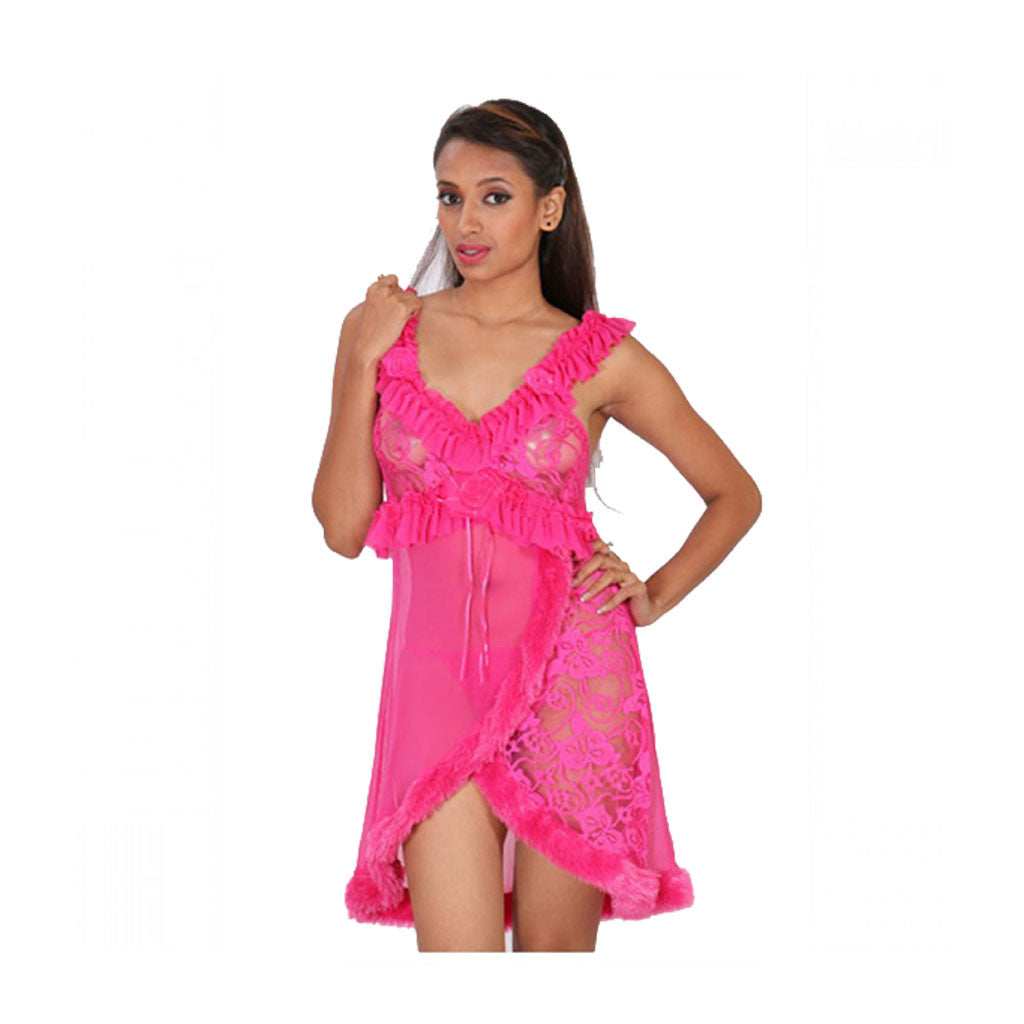 Sleepwear Lingerie Babydoll Dress M.No 45