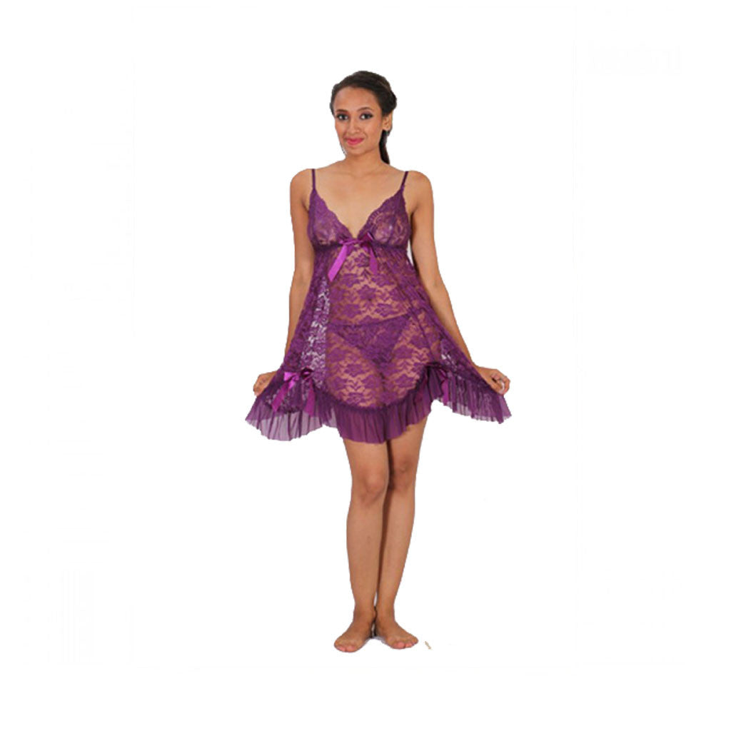 Sleepwear Lingerie Babydoll Dress M.No 23