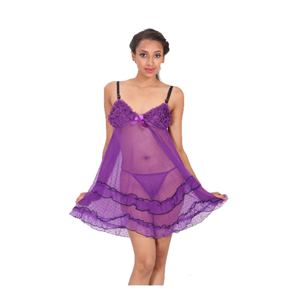 Sleepwear Lingerie Babydoll Dress M.No 35