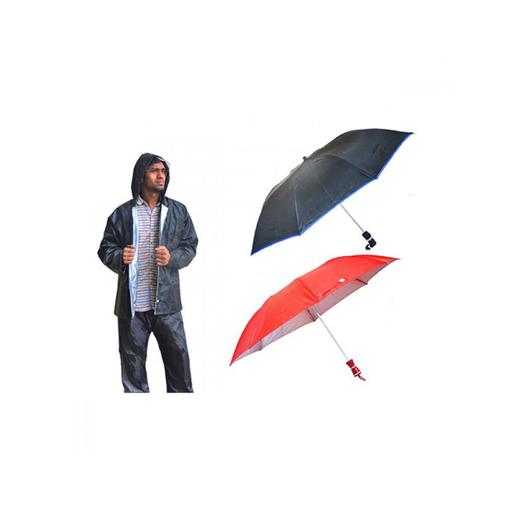 Rain Breaker Reversible Rain Suit With Pack Of 2 Indian Branded Umbrella