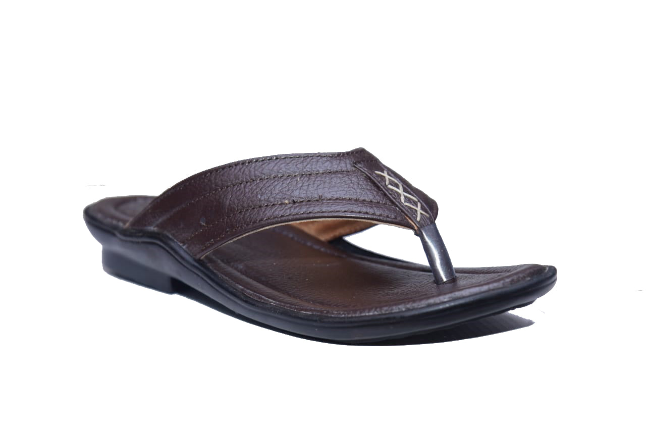 Men's Faux Leather Fashion Slippers