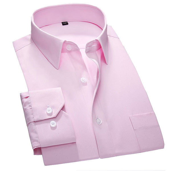 Pink Mens Formal Shirt