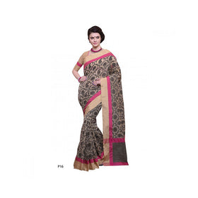 Banaras Supernet Saree With Blouse Piece -M.No 80