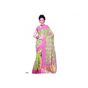 Banaras Supernet Saree With Blouse Piece -M.No 82