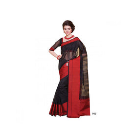 Banaras Supernet Saree With Blouse Piece -M.No 73