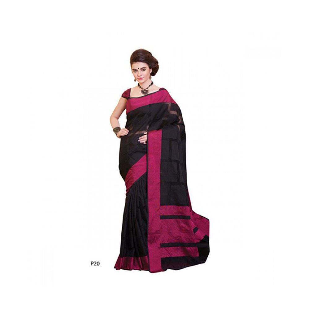 Banaras Supernet Saree With Blouse Piece -M.No 83