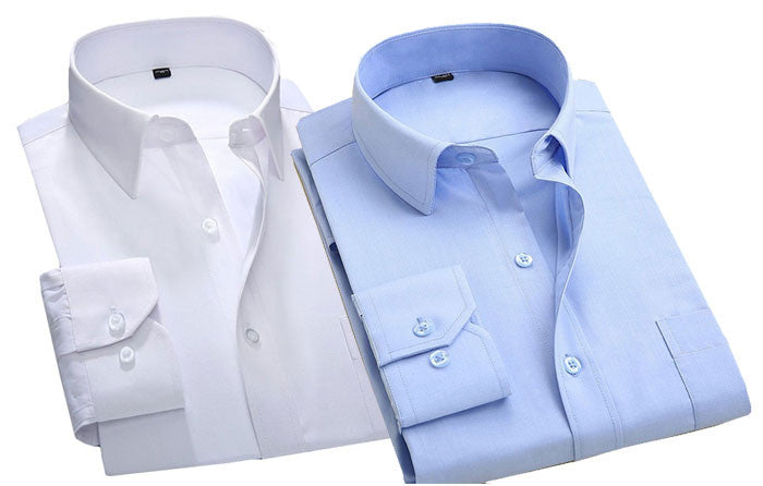 Pack of 2 Formal Shirts ( White Blue )