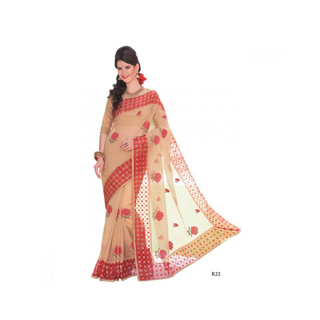 Banaras Supernet Saree With Blouse Piece -M.No 97