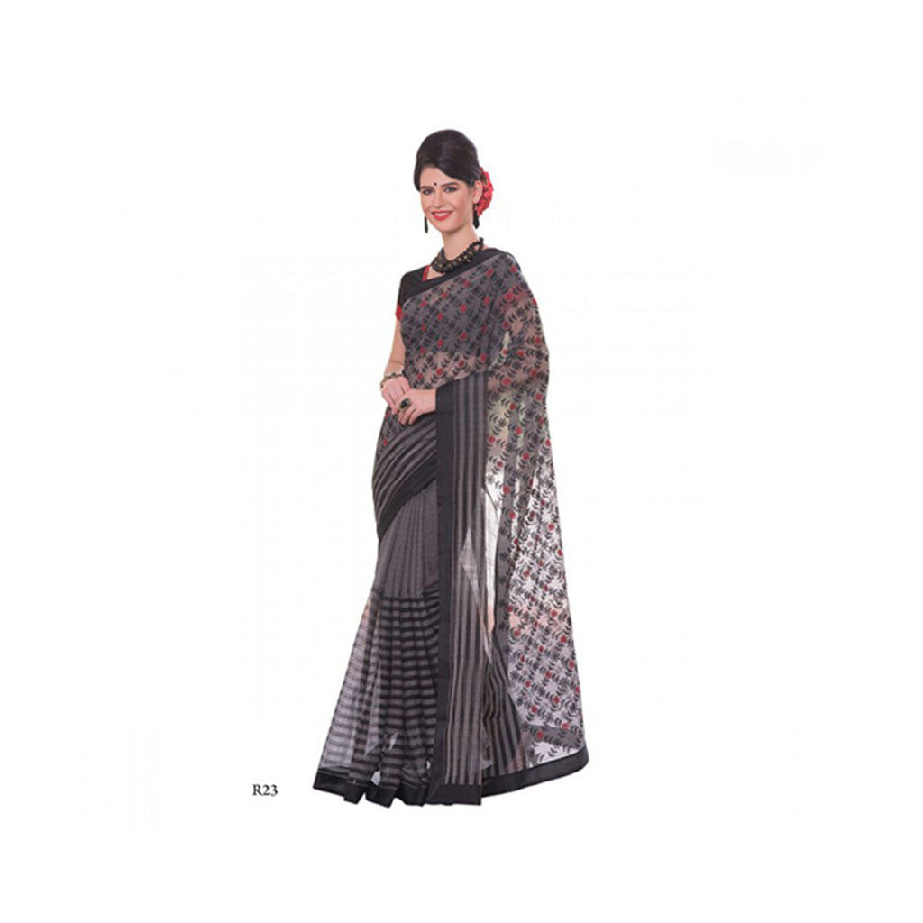 Banaras Supernet Saree With Blouse Piece -M.No 98