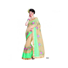 Banaras Supernet Saree With Blouse Piece -M.No 86