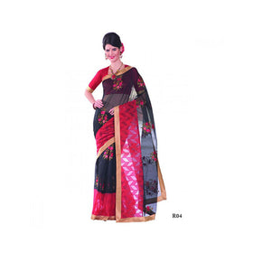 Banaras Supernet Saree With Blouse Piece -M.No 87