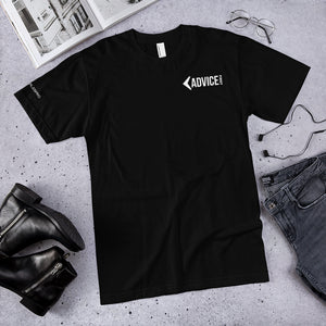 Advice First Mens T Black & White - Custom Sleeve