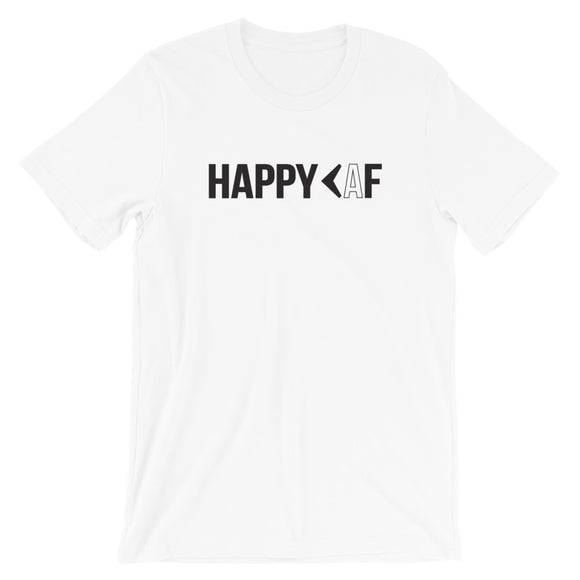 Advice First HAPPY AF Tee White