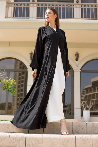 (AJ1667A) Naira embroidered abaya