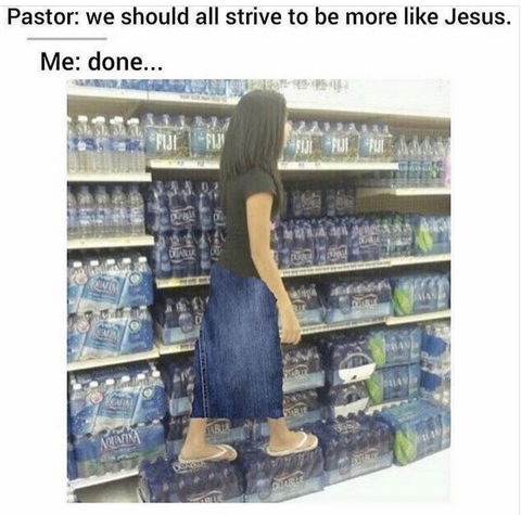 walk on water meme - christian funny memes - catholic religion