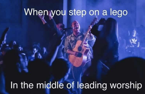 leading worship meme