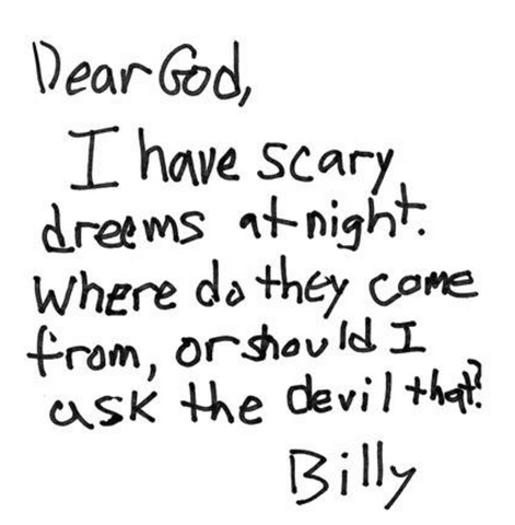 Kid letter written to god funny