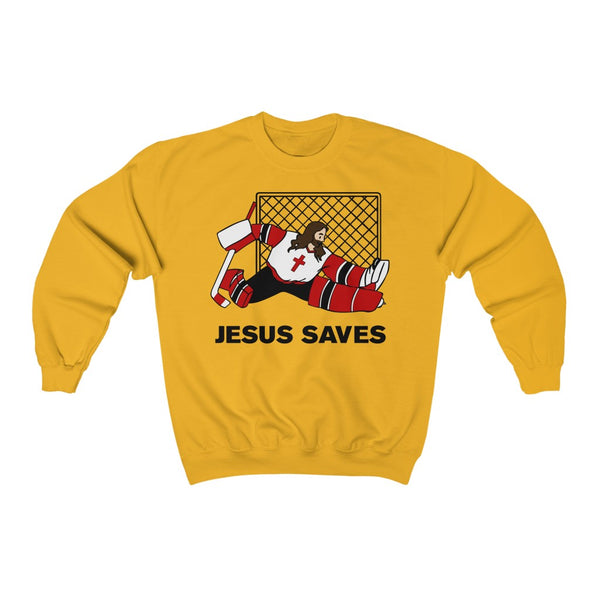 Jesus Saves Hockey Sweatshirt
