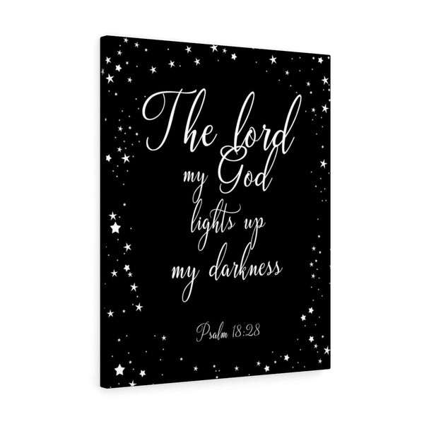My God Lights Up My Darkness - Portrait Wall Canvas